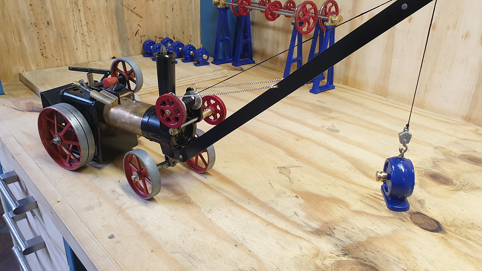 crane model for the mamod TE1A traction engine.