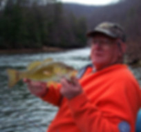 Fishiing for smallmouth bass Elk River West Virginia