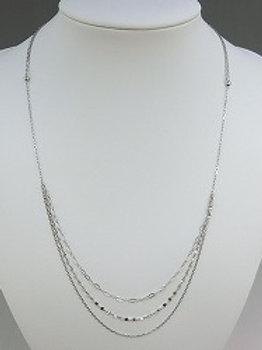アルデュール純プラチナレイヤードスタイルロングネックレス(70cm)