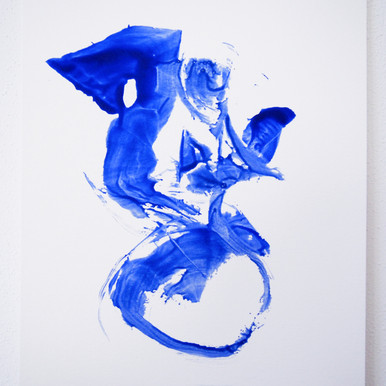 "Painting on paper - ""Tea bag elegance, 3"""