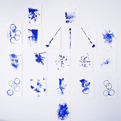 Gallery wall - paperworks