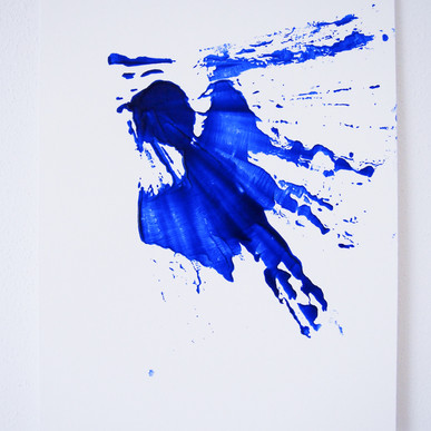 """Painting on paper - """"This is brush, 9"""""""