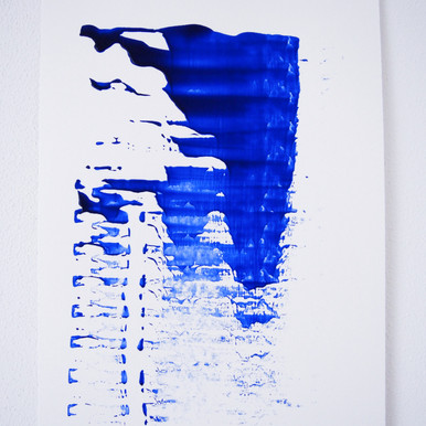 """Painting on paper - """"This is brush, 8"""""""
