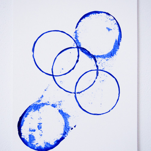 "Painting on paper - ""Circles of life after coffee, 1"""