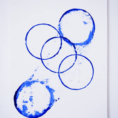 """Painting on paper - """"Circles of life after coffee, 1"""""""
