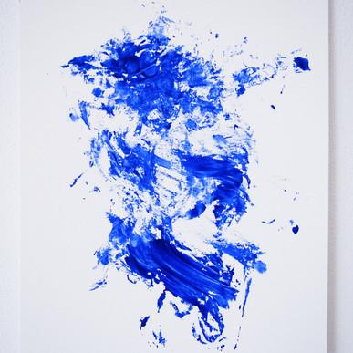 "Painting on paper - ""Silent killer"""