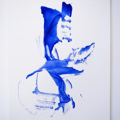 "Painting on paper - ""Tea bag elegance, 2"""
