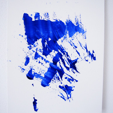 """Painting on paper - """"This is brush, 7"""""""