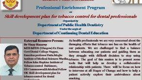 Skill development plan for Tobacco control for dental professionals.