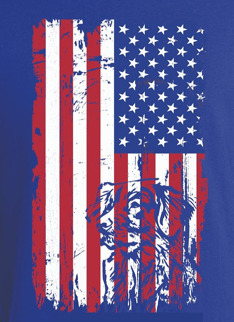 Grunge Flag w/Dog