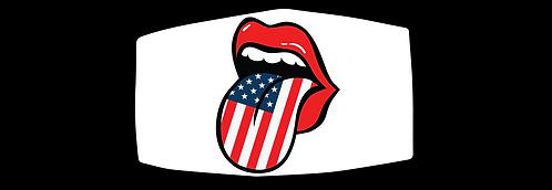 Flag Tongue - 3 ply Mask - Special $3 Shipping Option at Check