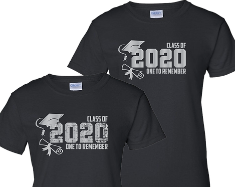 Black Color Shirt - Grad 2020 Letters ONLY