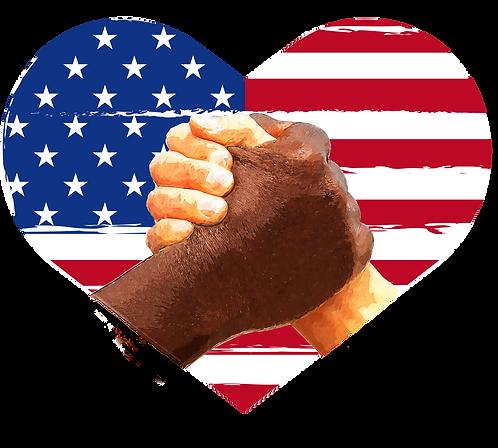 Unity - Hands Heart Flag Design