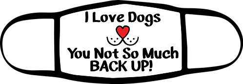 I Love Dogs - 3 ply Mask - Special $3 Shipping Option at Check