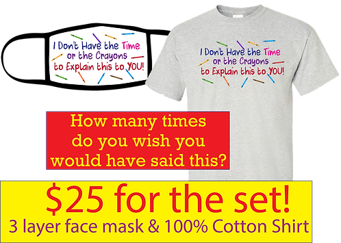 Special Combo - 3 layer Mask & 100% Cotton Shirt