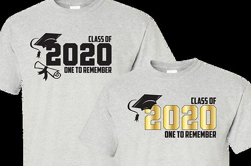 Ash Color Shirt - Grad 2020 Letters ONLY