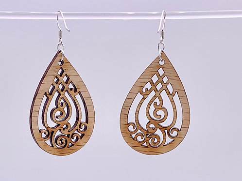 Geometric curlicue earrings