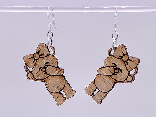 Laughing bear earrings