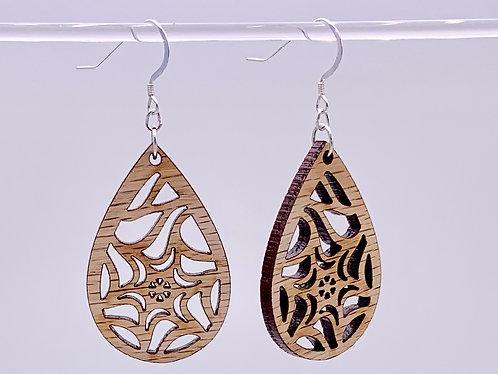 Geometric star earrings