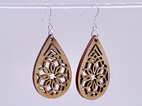 Geometric flower earrings