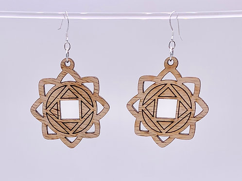 Square in the circle earrings