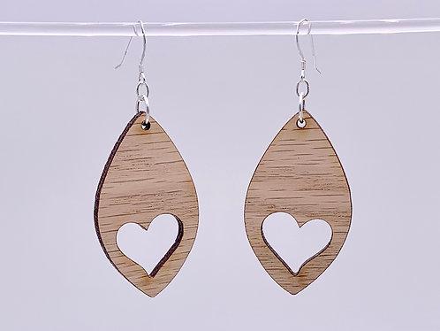 Heart cutout earrings