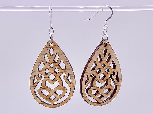 Geometric lotus earrings