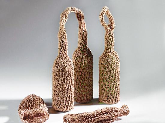 pletené obaly na vinné lahve