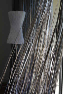 metallic string curtains