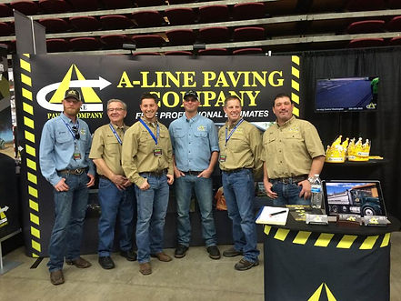 A-Line Paving team Ready for another Home & Garden Show!