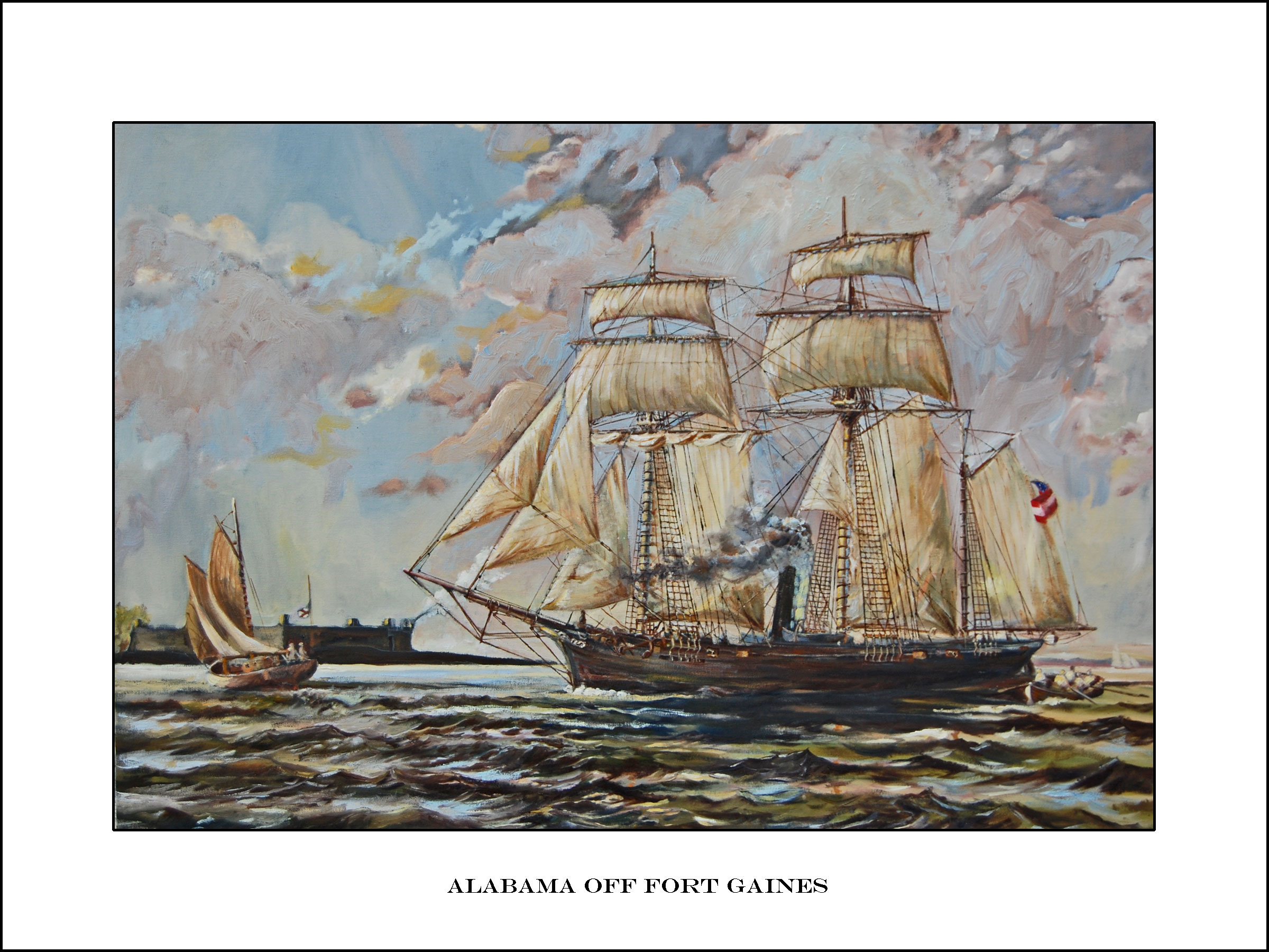 CSS Alabama Off Fort Gaines