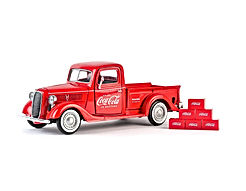 Coca-Cola 1937 Ford Pickup Truck Red 6 Bottle Carton Accessories