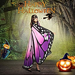Butterfly Wings for Women Monarch Butterfly Shawl Cape Halloween