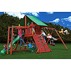 Playsets Sun Valley Playset w Monkey Bars, Deluxe Rope Ladder & Rock Wall