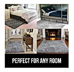 GORILLA GRIP Original Faux-Chinchilla Area Rug, 2x3 Feet, Super Soft and Cozy High Pile Washable Carpet