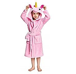Soft Unicorn Hooded Bathrobe Sleepwear for Girls