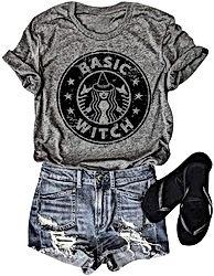 Women Basic Witch Halloween T-Shirt