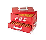 Nostalgia HDS248COKE Large Coca-Cola Diner-Style Steamer, 24 Hot Dogs and 12 Bun Capacity