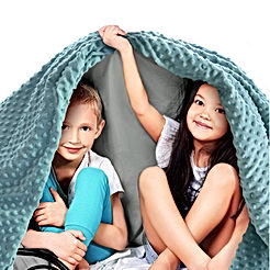 Quility Premium Kids Weighted Blanket and Removable Cover