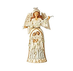 Enesco Jim Shore Heartwood Creek White Woodland Nativity Angel