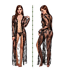 Lingerie for Women Sexy Long Lace Dress Sheer