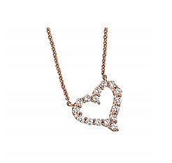 18k White Gold Love Diamond Necklace Diamond White Gold Classic Heart Diamond Pendant Female Clavicle Chain