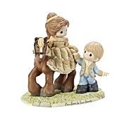 Beauty And The Beast Belle and Prince Adam Our Love Is True Beauty Bisque Porcelain Figurine