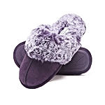 Comfy Faux Fur Womens House Slipper Scuff Memory Foam Slip On