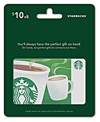 Starbucks Gift Cards Multipack of 8