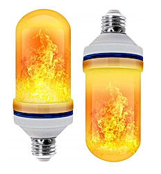 CPPSLEE LED Flame Effect Light Bulb 4 Modes with Upside Down Effect