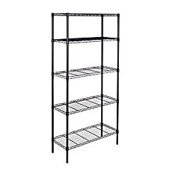 5-Shelf Shelving Storage Unit, Metal Organizer Wire Rack