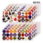 Outus 480 Pièces Autocollants Halloween Autocollants Multicolores pour Halloween Autocollants de Citrouille Araignée Chauve-Souris pour Fête d'halloween, 48 Styles