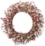 22 Inch Light-Up Christmas Wreath with Red Pip Berries