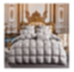 TheFit Paisley Luxury Heavy Weight, W1503 Royal Grey Filling Goose Down Comforter Set